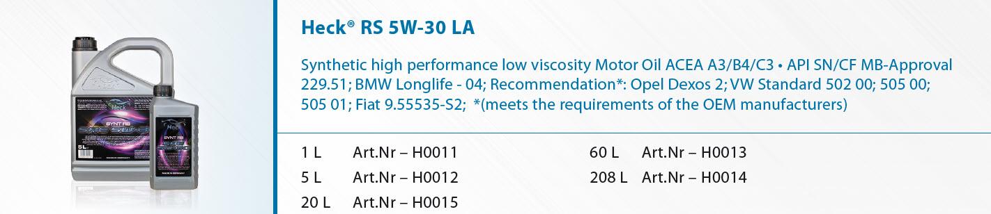 Heck-R-RS-5W-30-LA