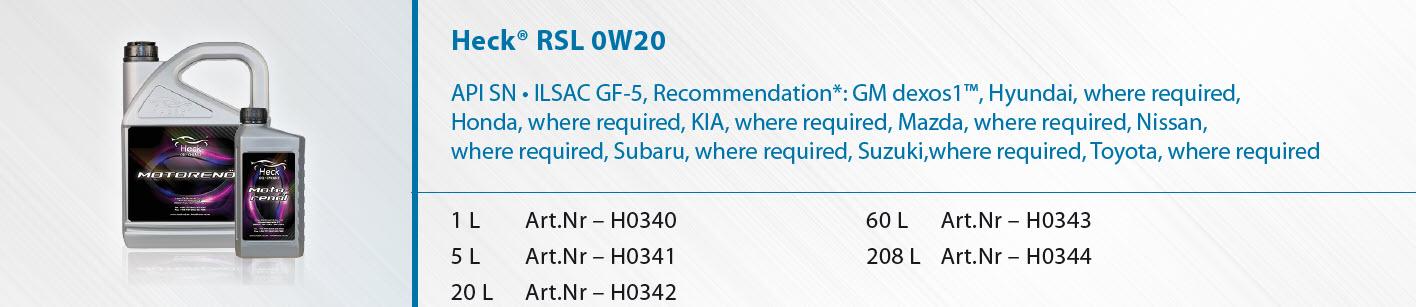 Heck-R-RSL-0W-20