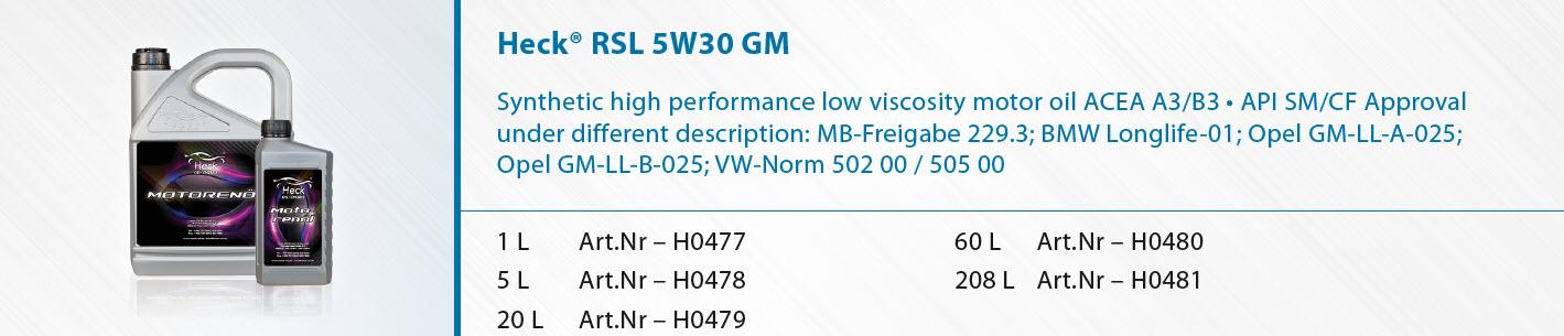 Heck-R-RSL-5W-30-GM